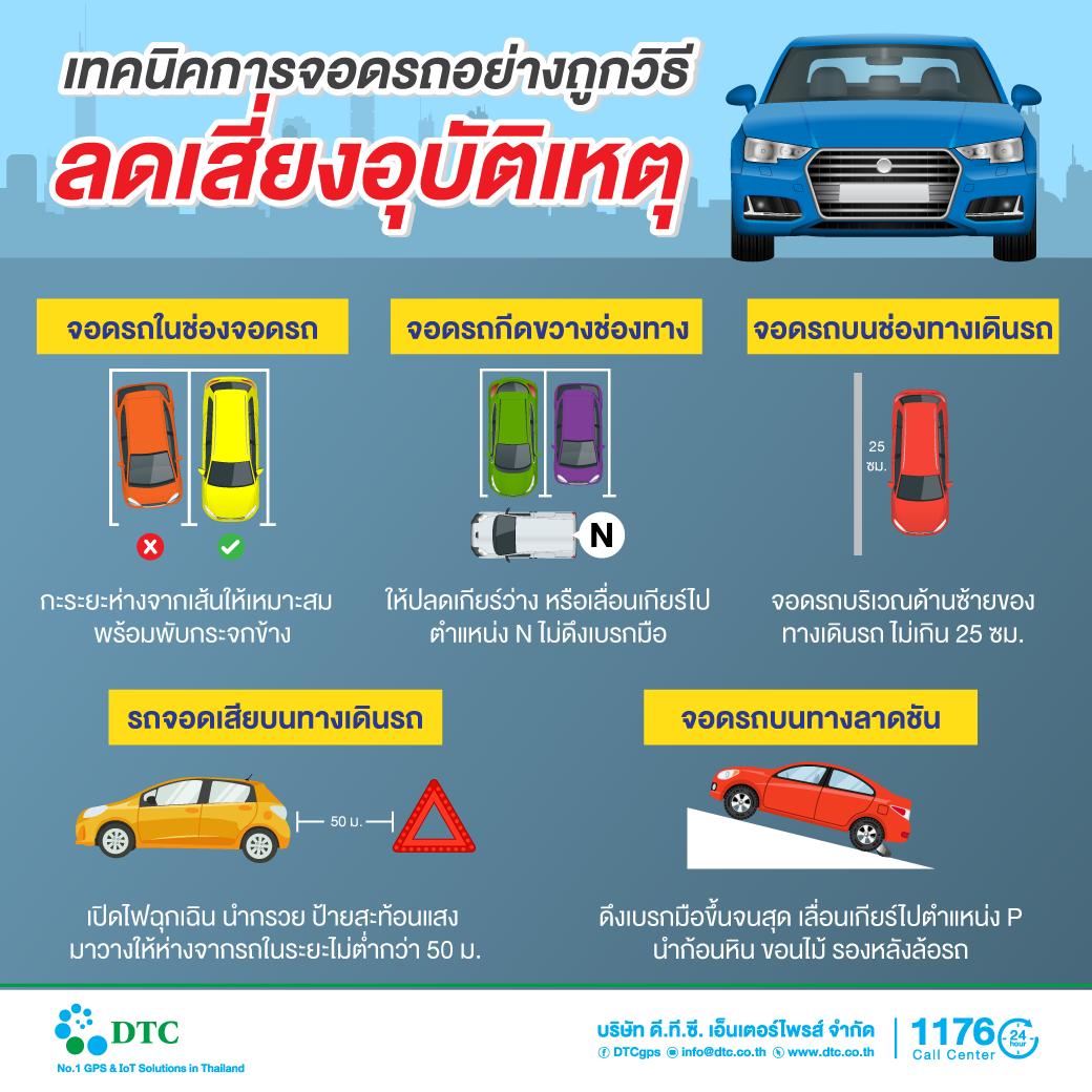 เทคนิคการจอดรถอย่างถูกวิธีลดเสี่ยงอุบัติเหตุ