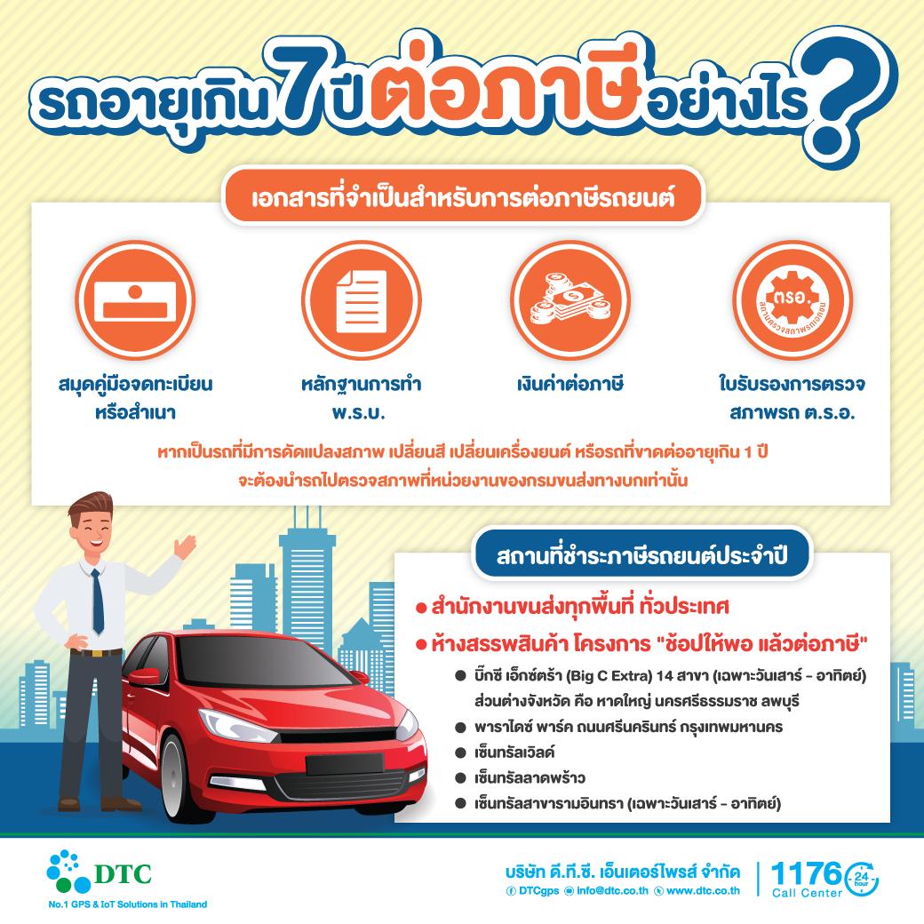รถอายุเกิน-7-ปี-ต้องต่อภาษีอย่างไร