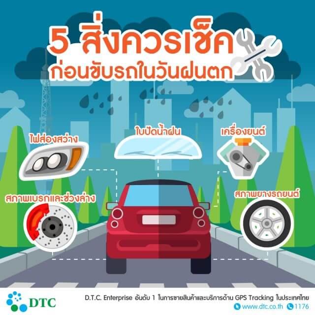 5สิ่งควรเช็คก่อนขับรถในวันฝนตก
