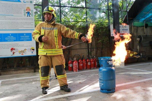 อบรมดับเพลิงและซ้อมอพยบพหนีไฟครั้งที่2