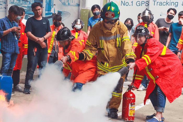 DTC จัดอบรมฝึกซ้อมดับเพลิงเบื้องต้น และซ้อมอพยพหนีไฟ 2563